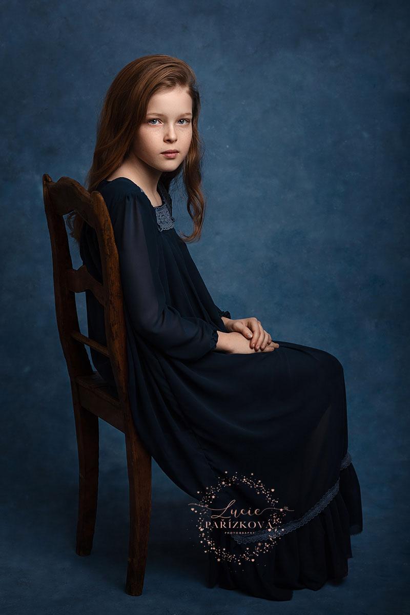 FineArt portrét dívky, dětská fotografie, focení dětí v Praze