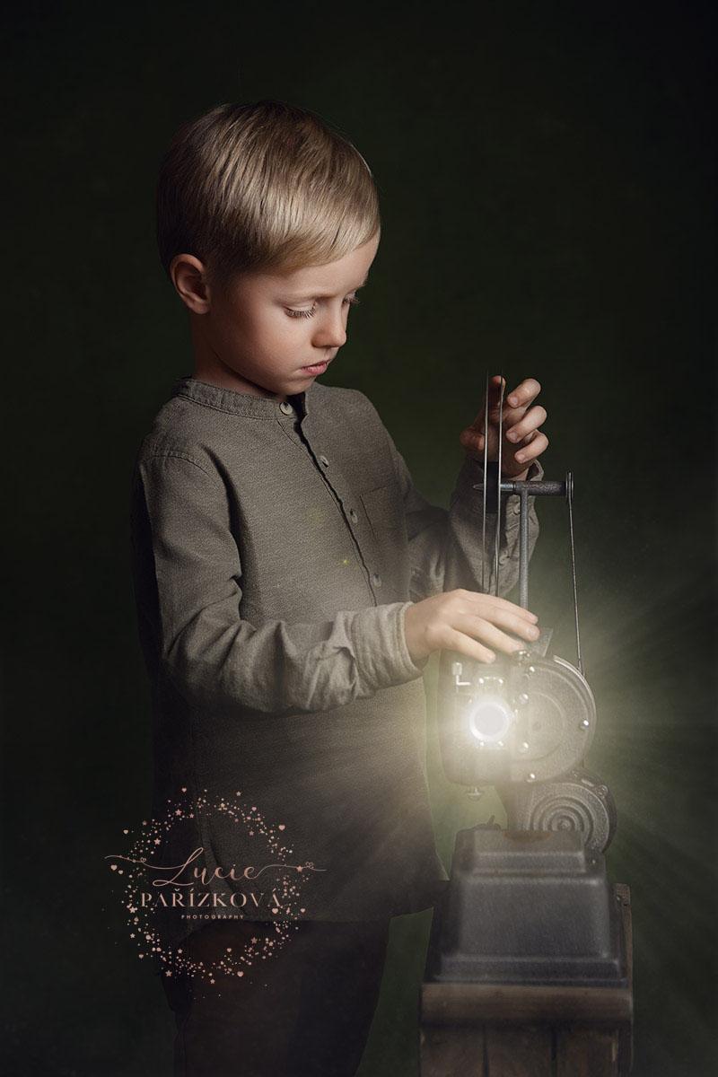 FineArt portrét chlapce, dětská fotografie, focení dětí v Praze
